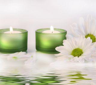 Обои на телефон свечи, цветы, романтика, приятные, любовь, красота, love, flowers and candles