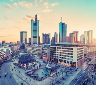 Обои на телефон city view, frankfurt city, пейзаж, город, вид, здания, архитектура