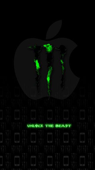 Обои на телефон айфон 6, эпл, серые, зеленые, айфон, monsterapple, monster, iphone, apple