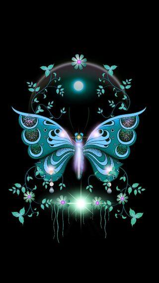 Обои на телефон работа, бабочки, арт, butterfly 2, art