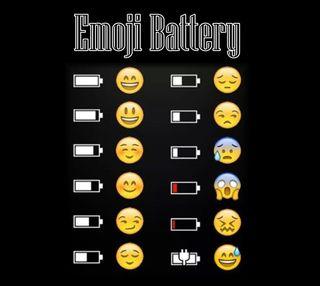 Обои на телефон эмоджи, батарея, gfs, emoji  battery