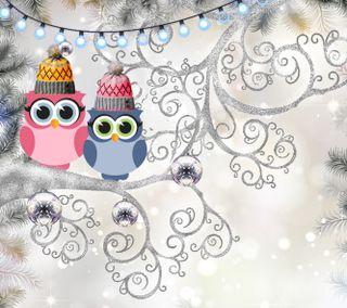 Обои на телефон сова, счастливое, рождество, мультики, зима, 1440x1280px