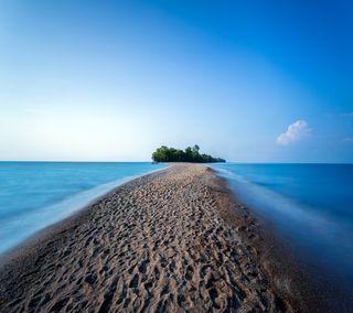 Обои на телефон рай, тропические, пляж, остров, океан, мост, море, вода, bridge to the beach