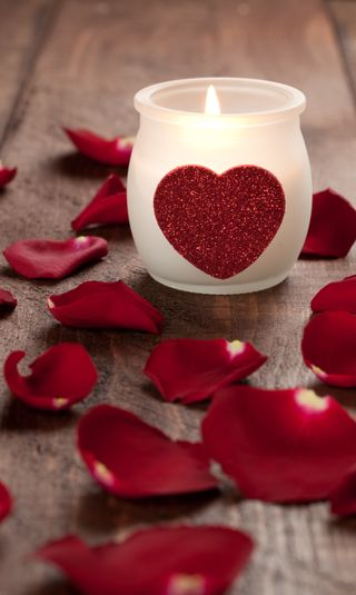 Обои на телефон лепестки, свеча, розы