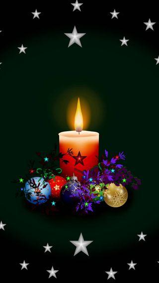 Обои на телефон свечи, счастливые, свеча, свет, санта, рождество, огни, vela, happy