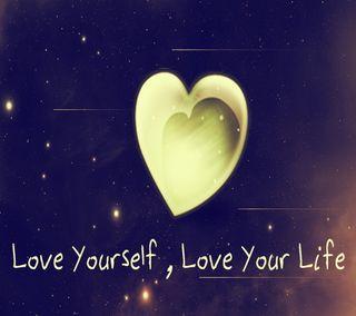 Обои на телефон твой, сердце, себя, любовь, красочные, жизнь, love your life, love