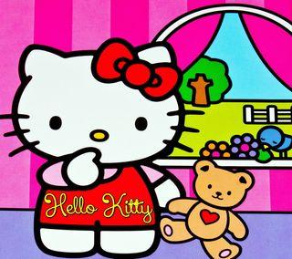 Обои на телефон привет, персонажи, мультфильмы, милые, котята, hello