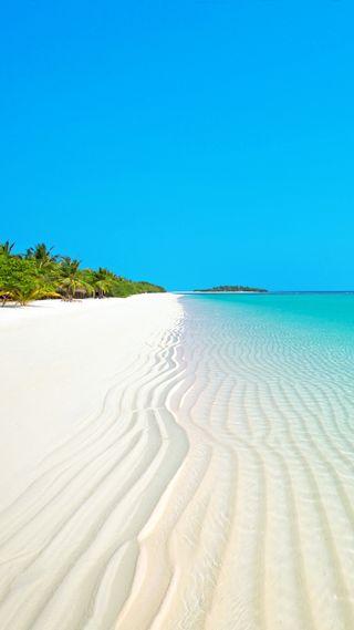 Обои на телефон релакс, удивительные, супер, рай, пляж, песок, пальмы, новый, небо, море, лучшие, крутые
