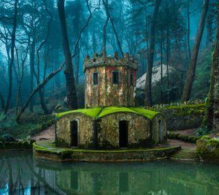 Обои на телефон хоббит, португалия, деревья, вода, forests, castles