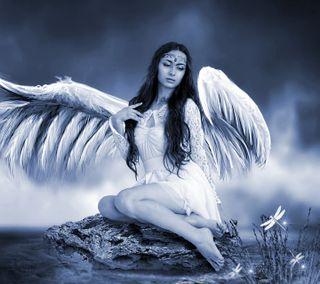 Обои на телефон крылья, женщина, ангел