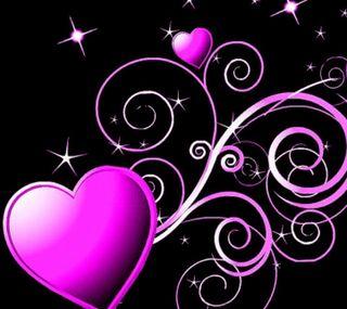 Обои на телефон фиолетовые, сердце, любовь, день, 2160x1920px, purple hearts, love