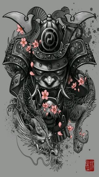 Обои на телефон самурай, воины