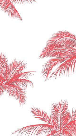 Обои на телефон розовые, прекрасные, листья
