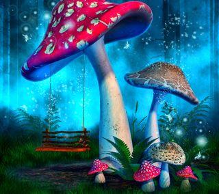 Обои на телефон фантазия, психоделические, поездка, грибы, shroom