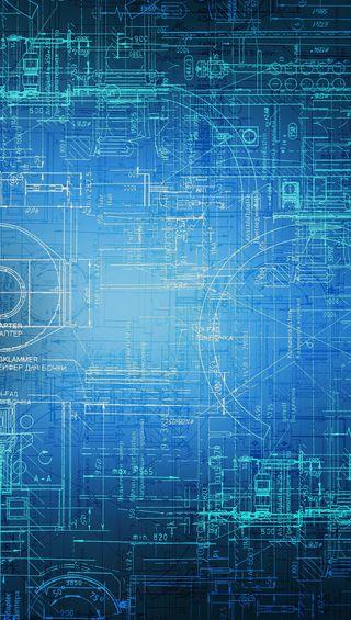 Обои на телефон технология, blueprint