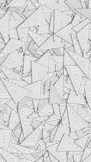 Обои на телефон треугольники, геометрия, текстуры, бумага, белые, абстрактные