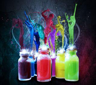 Обои на телефон танец, цветные, рисунки, красочные, pd