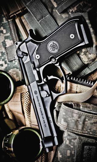 Обои на телефон пистолет, оружие, m9, caliber, 9mm