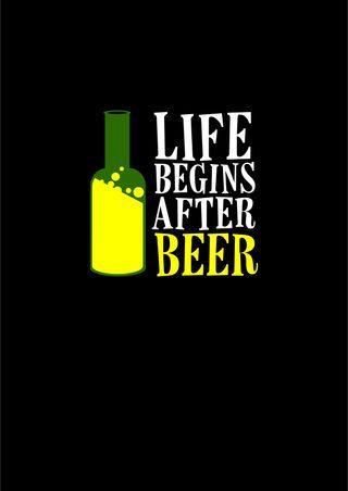Обои на телефон алкоголь, цитата, сказать, пиво, напиток, жизнь, drunk, begins, beer is life, alcoholic, after