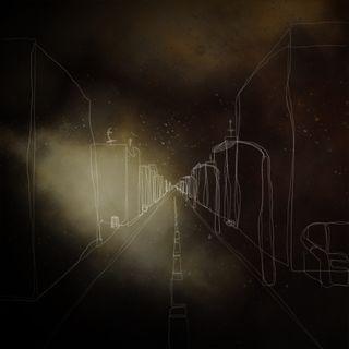 Обои на телефон фонарь, улица, темные, страшные, ночь, дорога, дом, street at night, pavement