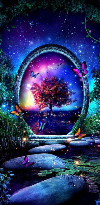 Обои на телефон планета, цветные, симпатичные, природа, прекрасные, планеты, мир, красочные, девчачие, бабочки, аврора, another world