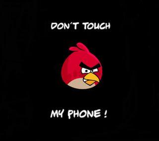 Обои на телефон злые, цитата, трогать, телефон, птицы, поговорка, не, мой, красые, angry bird