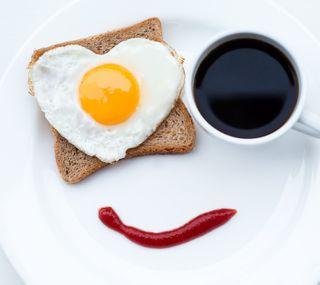 Обои на телефон яйца, чай, чашка, счастливые, аниме, happy, cup, brea