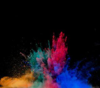 Обои на телефон взрыв, цветные, бомба