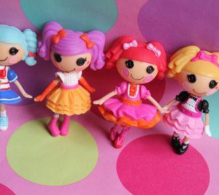 Обои на телефон игрушки, девчачие, розовые, dolls