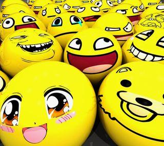 Обои на телефон мем, шары, улыбающийся, счастливые, лицо, желтые, грустные, smilies, happy, cry