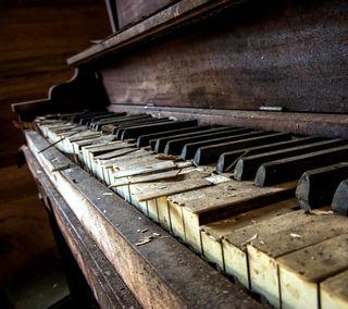 Обои на телефон старые, пианино, old piano, jx