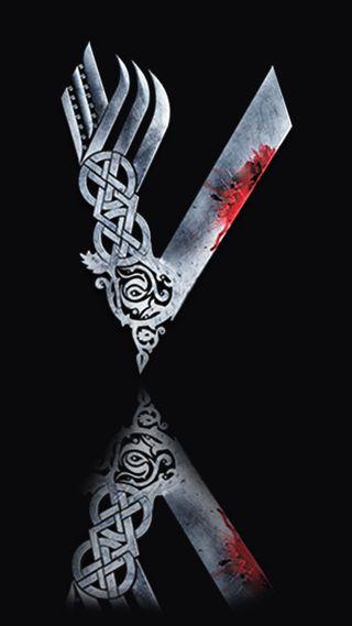 Обои на телефон викинги, ряд, логотипы, кровь, война