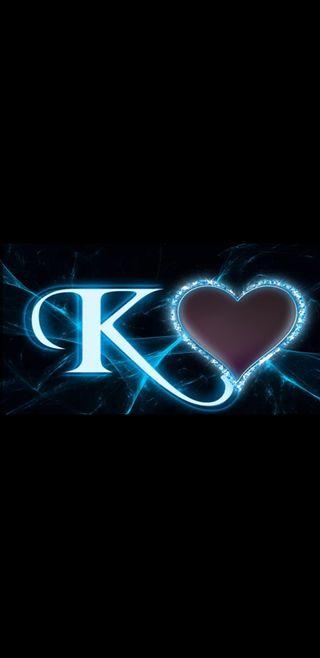 Обои на телефон молния, черные, синие, сердце, буквы, белые, k letter