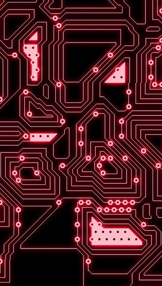 Обои на телефон фикция, технология, наука, микросхема, красые, sience fiction, red circuit, cg