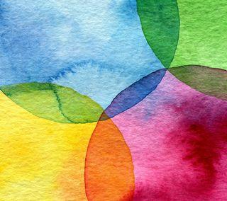 Обои на телефон бумага, цветные, фон, рисунки, радуга, акварель