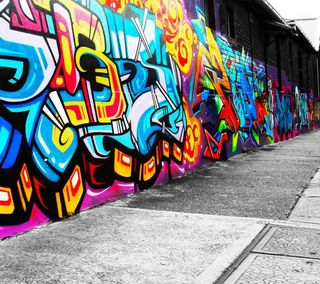 Обои на телефон граффити, цветные, улица, стена, рисунки, отношение, мир, классные, дизайн, городские, арт, graffiti wall, art