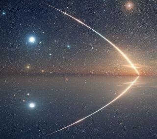 Обои на телефон отражение, природа, пейзаж, звезды