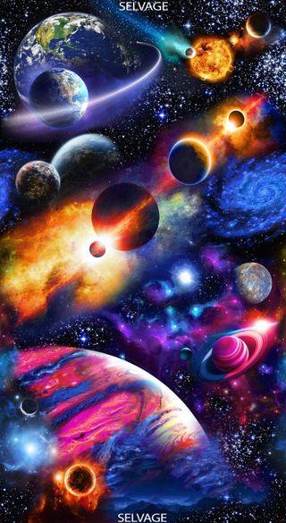 Обои на телефон космос, красочные, планеты, солнечный, система