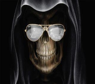 Обои на телефон очки, череп, skull with glasses, hsh, erherh