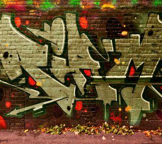 Обои на телефон граффити, стена, рисунки, здания