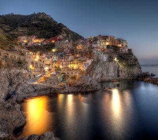 Обои на телефон берег, море, италия, дома