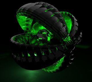 Обои на телефон открыто, черные, мяч, зеленые, абстрактные, open ball, hd