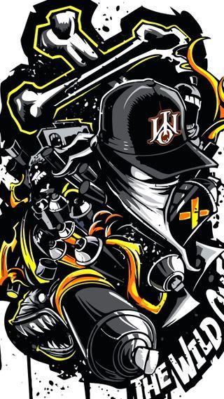 Обои на телефон граффити, войны, monster