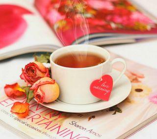 Обои на телефон чай, чашка, утро, сердце, любовь, love, cup