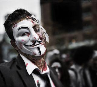Обои на телефон хакер, зомби, взлом, анонимус, mtl