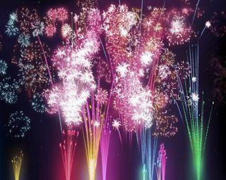 Обои на телефон фейерверк, цветные, счастливые, празднование, новый, жизнь, вечеринка, 2014