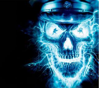 Обои на телефон яростный, киллер, страшные, синие, призрак, пламя, отношение, опасные, огонь, ghost, frankenstein