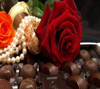 Обои на телефон шоколад, ты, розы, милые, любовь, красые, день, валентинка, love, i love you