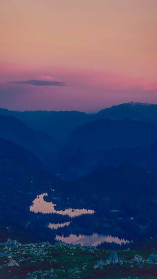 Обои на телефон фото, пейзаж, небо, закат, горы, вид, sky view, mountain sunset