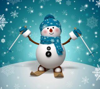 Обои на телефон снеговик, счастливые, счастливое, рождество, новый, милые, зима, happy, 3д, 3d